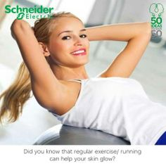 Regular running can boost your immunity and also help your skin glow. Have you started running with our marathon app yet? Download the app from here Android users - https://play.google.com/store/apps/details?id=com.FIFTYFORFIFTY.marathon iOS users - https://itunes.apple.com/in/app/schneider-electric-energy/id697842629?ls=1&mt=8