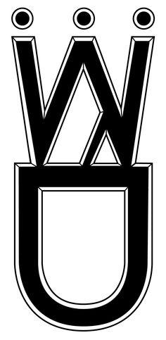 WD logo in black...