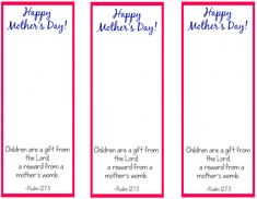 Mother's day bookmark printable