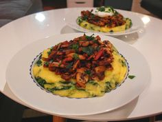 Aneta Goes Yummi: Špenátová polenta s hubami (ak odignorujete tú trošku slaninky, je to recept vhodný aj pre vegánov)