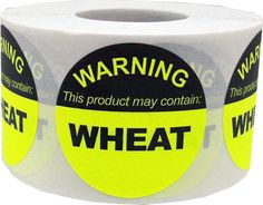 This Product May Contain WHEAT  Allergy Warning by TheDotSpotLane