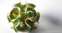 3d printed psychedelic food // 3DSYSTEMS chefjet and cubify // http://the-sugar-lab.com/gallery