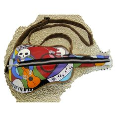 Day of the Dead Guitar Purse - this is wearable music art!! For those goth Fans, this wins the Hipster prize in purse fashion!! $99.99
