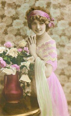 vintage tinted post card