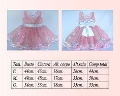 Vestflor Vestido Festa Infantil: Tabela de medidas vestido para bebê