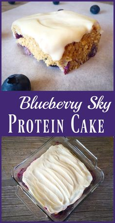 Have your cake and eat it too! Blueberry Protein Cake Recipe.