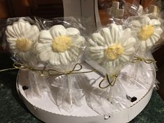 Chocolate candy flower lolipops
