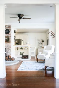 Industrial Style Ceiling Fan by She Holds Dearly