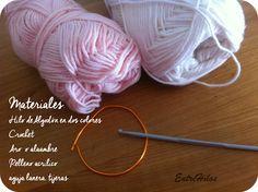 Patrones de crochet: Chupetes de ganchillo para bautizo o baby shower