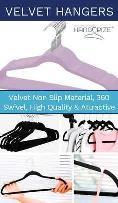 Velvet Hangers Closet storage organization made easy. We're your one-stop-shop for hangers and clothing organize Small Space Organization, Storage Organization, Bedroom Organization, Food Storage, Bike Storage Solutions, Hanging Clothes, Clothes Hangers, Velvet Hangers, Clothing Storage