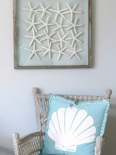 Coastal Style...framed starfish...another project to make!