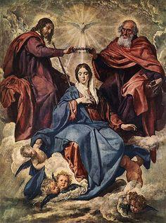 VELÁZQUEZ, Diego Rodriguez de Silva y - The Coronation of the Virgin | da Faces of Ancient Europe