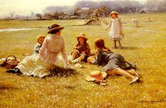 A Picnic Party by William Kay Blacklock.