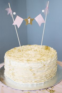cake with star topper - Google Search