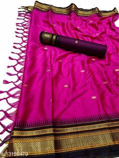 Sarees Hirkal Traditional Paithani Silk Sarees With Contrast Blouse Piece (Creamson & Black)  Saree Fabric: Silk Blend Blouse: Separate Blouse Piece Blouse Fabric: Silk Blend Pattern: Woven Design Blouse Pattern: Woven Design Multipack: Single Sizes:  Free Size (Saree Length Size: 5.3 m, Blouse Length Size: 0.8 m)  Country of Origin: India Sizes Available: Free Size   Catalog Rating: ★4 (476)  Catalog Name: Aakarsha Fashionable Sarees CatalogID_2303917 C74-SC1004 Code: 036-13199479-4461