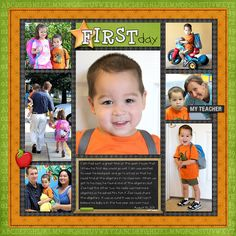 First Day of School Layouts | Simply Kelly Designs #scrapbooking #firstdayofschool #preschool