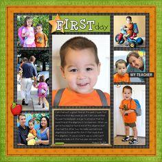 First Day of School Layouts | Simply Kelly Designs #scrapbooking #firstdayofschool #preschool