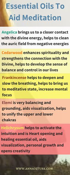 Essential oils to aid and deepen meditation, their benefits to our subtle body; subtle aromatherapy to enhance spirituality #meditation #spirituality #subtle #essentialoils #balancing #grounding