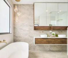 Laminex veneer wraps around this stunning white benchtop Modern Bathroom, Alcove, Bathrooms, Wraps, Bathtub, Inspiration, Standing Bath, Biblical Inspiration, Funky Bathroom