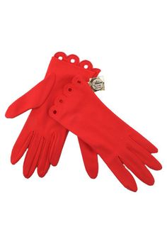 Vintage Red Glamour Gloves. Look like an Old Hollywood movie star no matter where you go!  #modcloth