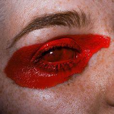 """🔴🔴🔴// model & mua: (no photoshop) // Foto Portrait, Portrait Art, Eye Photography, Photography Collage, No Photoshop, Red Eyes, Aesthetic Art, Aesthetic Vintage, Red Aesthetic Grunge"