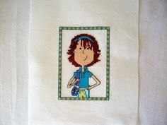 Completed GIRLY Cross Stitch Finished Cross Stitch by CraftyMJC, $17.95