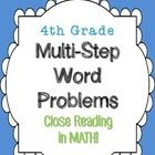 4th grade Multi-Step Word Problems - Close... by Math Lady in MD | Teachers Pay Teachers