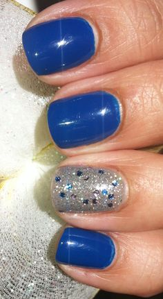 "Winter'12  Pure Ice Nail Polish~ ""French Kiss""  Accent~ Essie ""Chinchilly"" w/NYC ""Starry Silver Glitter"""