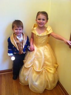 Halloween 2012. My granddaughter and grandson as Belle and the Beast from Disney's Beauty and the Beast. I had a sewing pattern for Belle but modified and added my own flare to make it more unique. Again, I couldn't find a pattern for the beast's costume so I created one from a used boys tuxedo tailcoat that I bought on ebay.
