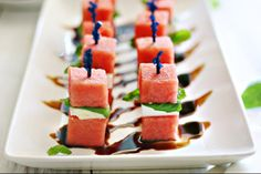 Watermelon Feta Bites - Foodista.com