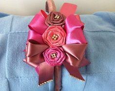 Tiara infantil Ribon Flowers, Paper Flowers, Ribbon Bows, Ribbon Hair, Kanzashi, Baby Girl Headbands, Bow Hair Clips, Big Bows, Girls Bows