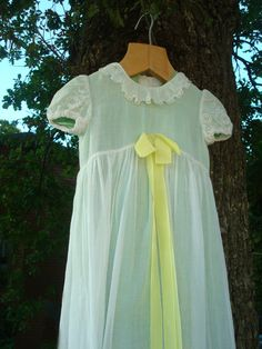Antique Baptism Baby Dress Double Layered White by OLaLaVintage