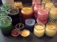 Homemade Jar Candles