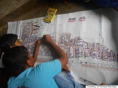 Children's organization Humara Bachpan is encouraging slum kids to map out the failings of their neighborhoods -- and how they can be fixed -- in order to inform government officials