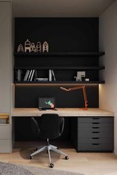 Furniture Home Office Design Ideas. Hence, the demand for residence offices.Whether you are planning on including a home office or remodeling an old area into one, below are some brilliant home office design ideas to assist you start. Mesa Home Office, Home Office Setup, Home Office Space, Home Office Desks, Home Office Furniture, Office Decor, Small Office, Office Ideas, Black Office