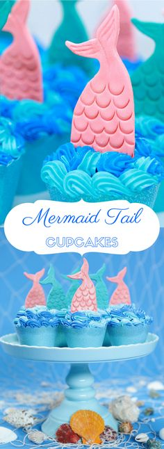 Mermaid Tail Cupcakes - Salted Caramel Cupcake Recipe