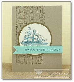 Captain Dad kth by kthaman - Cards and Paper Crafts at Splitcoaststampers.  Masculine card