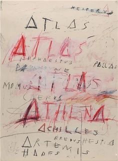 Pinned by Nico Kok Cy Twombly, Lausanne, American, York, Collection, Shop Signs