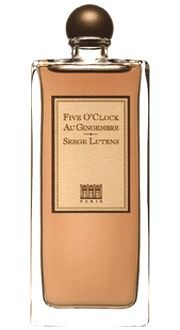 Five O`Clock Au Gingembre by Serge Lutens is an Oriental Spicy fragrance. Top notes are tea and bergamot; middle notes are ginger, cinnamon and woodsy notes; base notes are cacao, honey, amber, patchouli and pepper. - Fragrantica <3<3<3<3