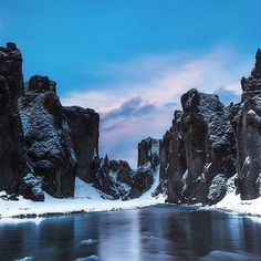 The river gorge at Fjaðrárgljúfur Canyon, #Iceland by Tony Prower. Tag someone you'd like to visit with!