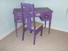 purple vanity