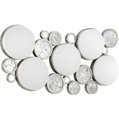 Light fixture for wall or ceiling.  Circles, bubbles and bling. All my faves!
