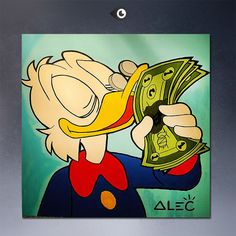 Duck Tales Uncle Scrooge Love Money art wall poster art canvas print pop cultture