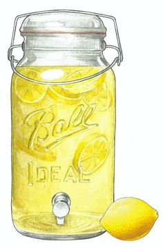 LARGE BALL JARS can be used for anything....like LEMONADE! Refreshing