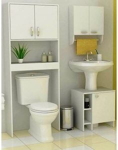 Risultati immagini per muebles para baños pequeños Toilet Storage, Small Bathroom Storage, Bathroom Design Small, Bathroom Designs, Bathroom Wall Decor, Bathroom Furniture, Bathroom Interior, Bathroom Ideas, Timeless Bathroom