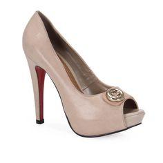 Peep Toe Feminino Bottero 159903 - Bege - Passarela Calçados
