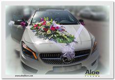 Décoration Florales De Voiture Des Mariés Aloé Fleurs 18