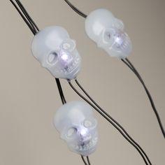 Skull Micro LED 25-Bulb Battery Operated String Lights | World Market