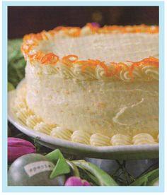 recipe tangerine cake   The Merry Martini: Spring with Paula Dean