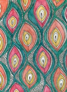 squiggles in the sketch book, Botto Textile & Print Design